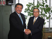 「「白壁賢一県議に期待する」 衆議院議員 堀内光雄先生より